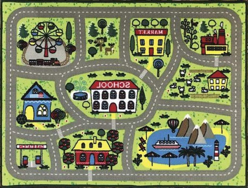 kids interactive play mat round town approximate