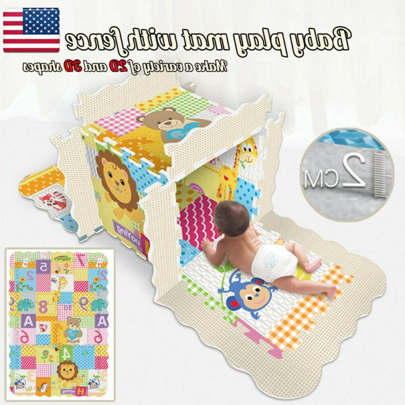 baby play mat with fence baby crawl