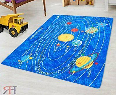 kids rugs solar system kids educational play