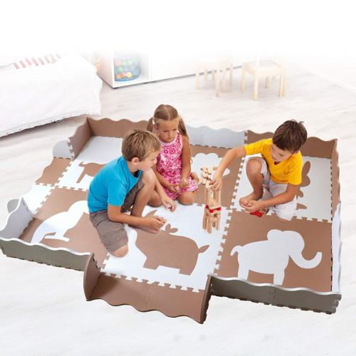 Wee Baby Play Mat with Fence   Toxic Mat for Playroom