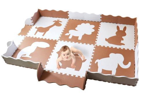 large baby play mat with fence non