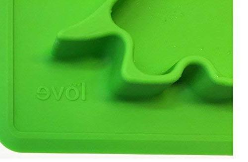 """Silicone Placemat Toddler Plates"""" Dino PAD"""" to Microwave Fits Bag."""