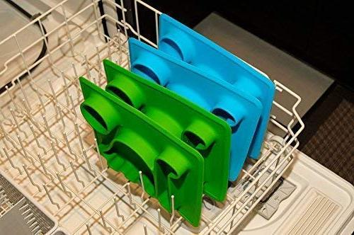 """Silicone Placemat Plates"""" The Happy Good Dino from to to Fits Bag."""