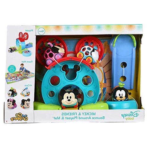 Mickey Grippers Oball and Bounce Play Set and Mat, for Your Little One's Playtime Adventure!, 2.1 Pound