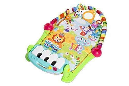 MooToys Newborn Toy with for Baby 36 Lay and Play, and Play, Activity Play Mat Activity