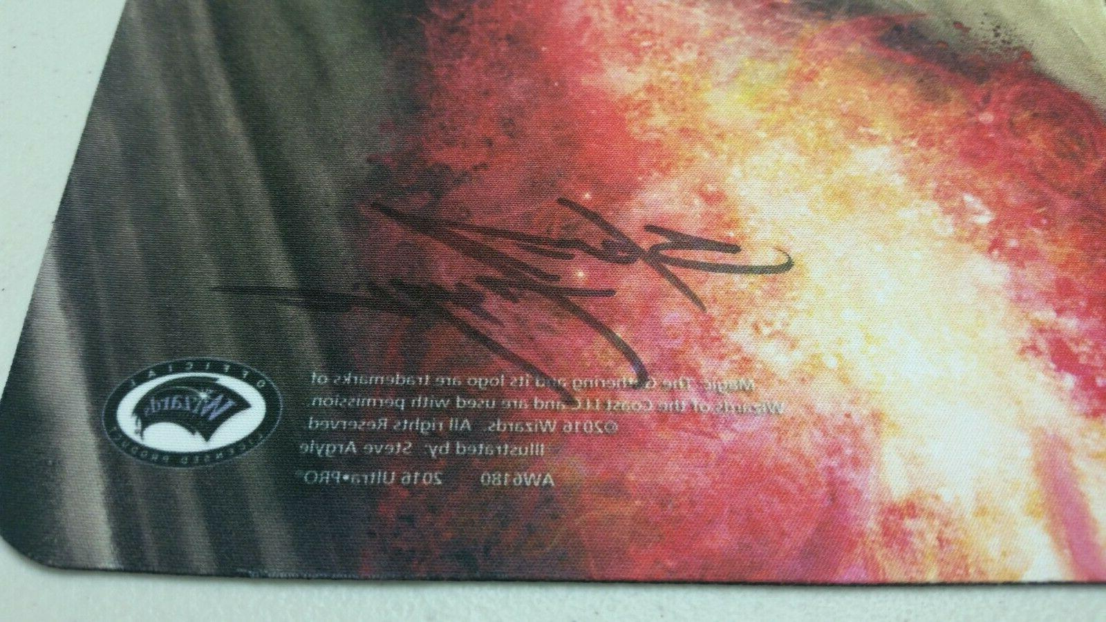 MTG Play Mat of VEIL signed by