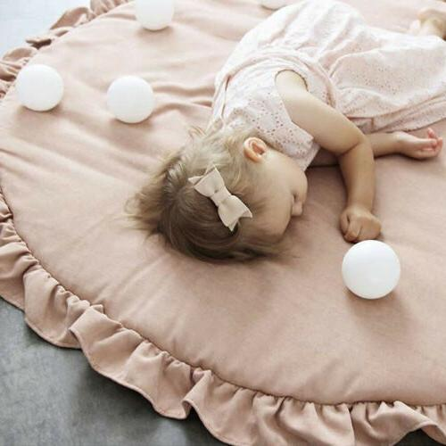 Soft Cotton Baby Game Gym Activity Mat Rug