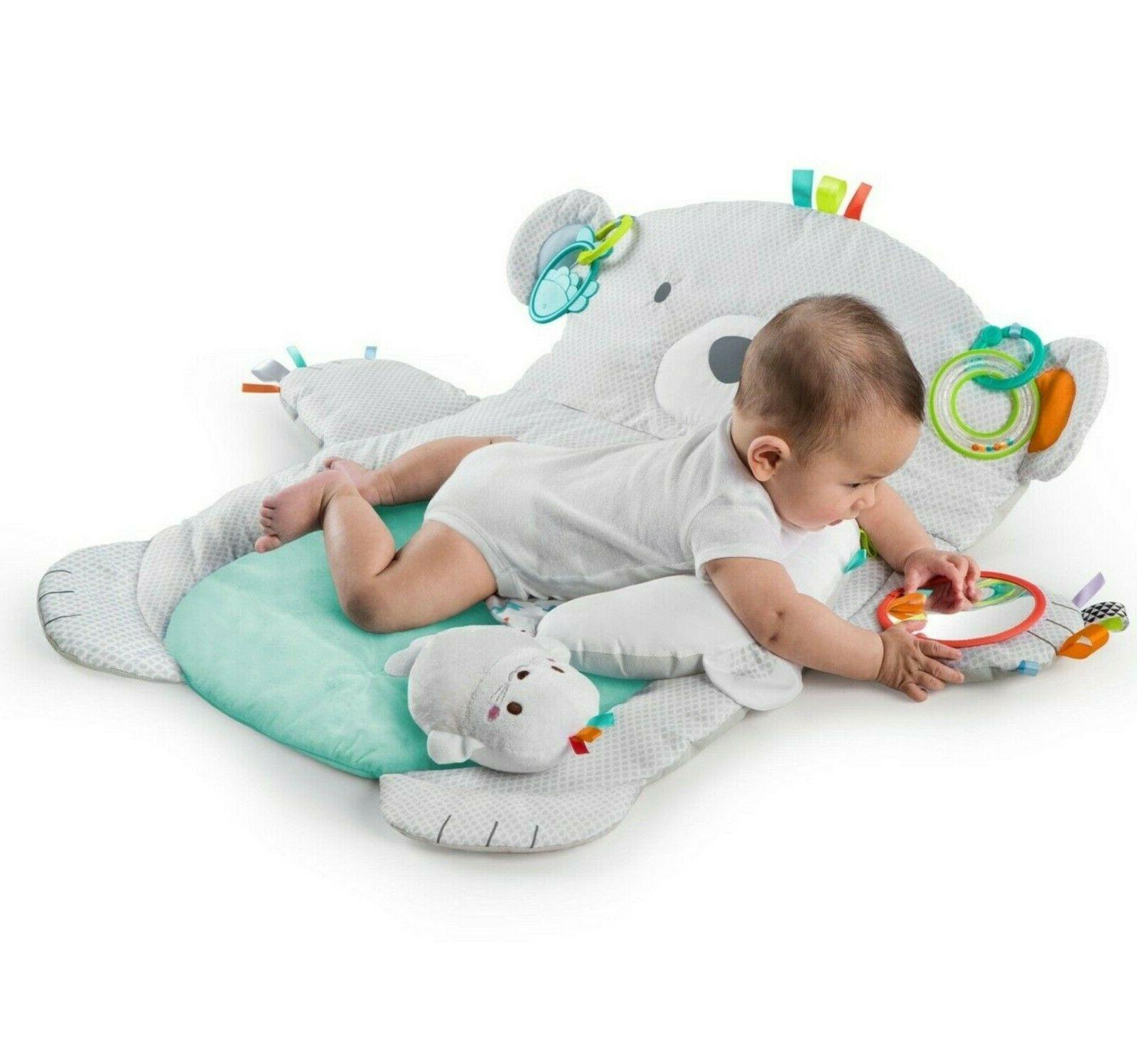 new tummy time prop and play on