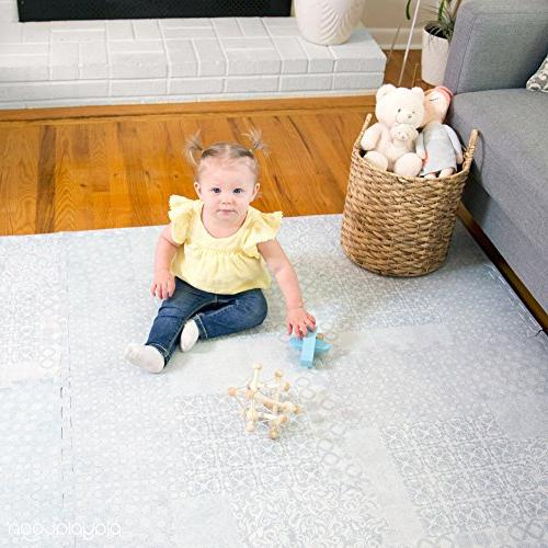 Non-Toxic Extra-Thick 9 Childrens Play Mat 72 Comfortable Foam Floor Puzzle Mat & with x