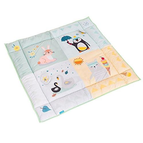 Taf Toys 4 Seasons Baby Mat | Raised Development and Easier Parenting, Extra Padded, Soft, Cozy & Fabric