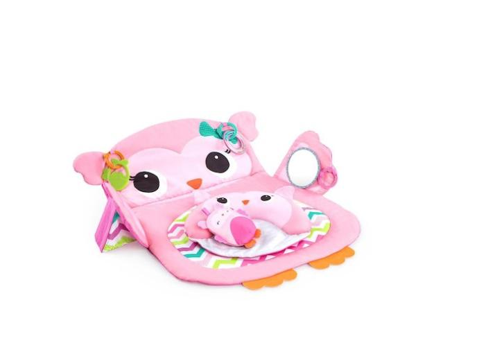 pink owl prop and play tummy time