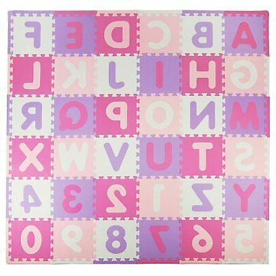 pink purple abc soft durable