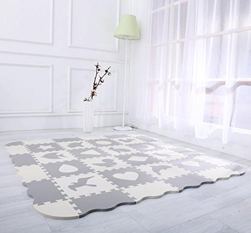 Interlocking with 16 Crawling Mat for & Nursery Color Toddlers &