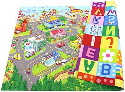 play mat large zoo town