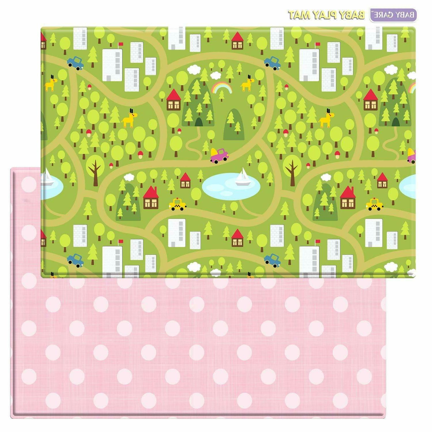 play mat playful collection country town blue