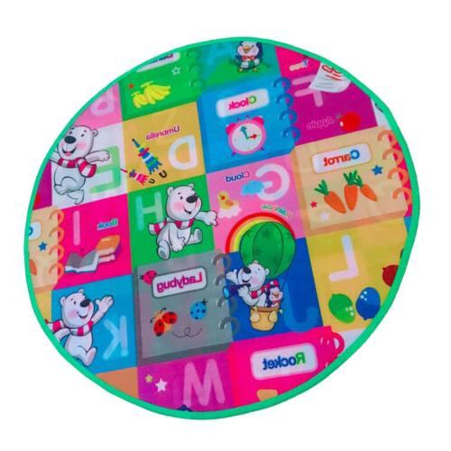 MagiDeal Play Mat Round for Tent Nursery Rug Large Kids Play