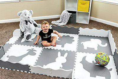 Baby Play with Tiles. Non Toxic Baby, Toddler Neutral for or