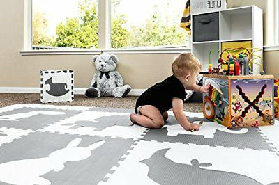 Baby Large Tiles. White Baby, Toddler or Kids. Neutral or