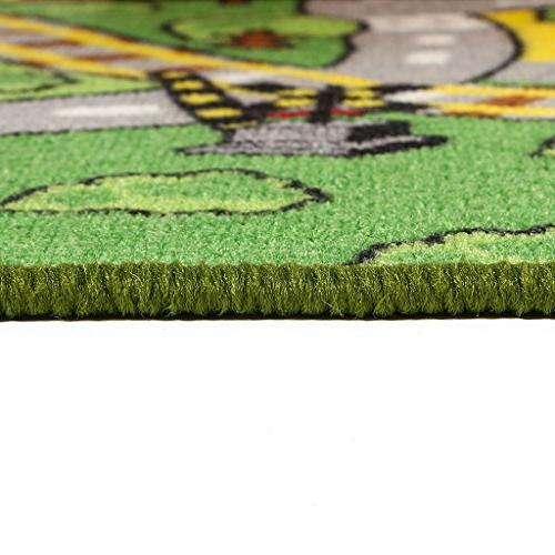 "JACKSON Kid Rug for Toy Rug Carpet 52""x 74"" Play and Classroom,Safe and Play Boys and Girls"