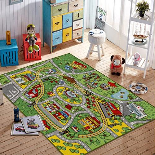 "JACKSON Kid Rug for Toy Cars,Car Carpet with Non-Slip 52""x Play and Classroom,Safe and Play Rug Boys and"