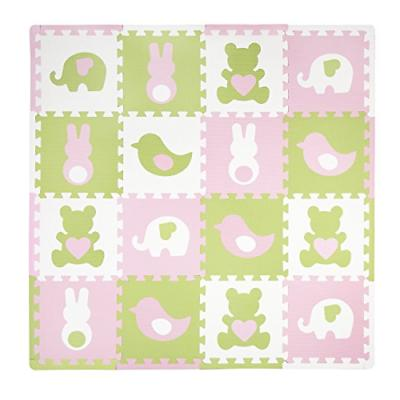 playmat set teddy and friends pink