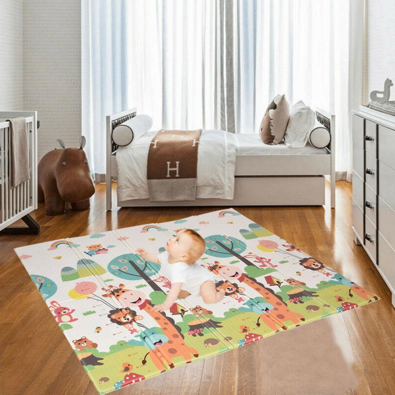 Folding Baby Play Mat Baby Care XPE Non-Toxic Non-Slip Water