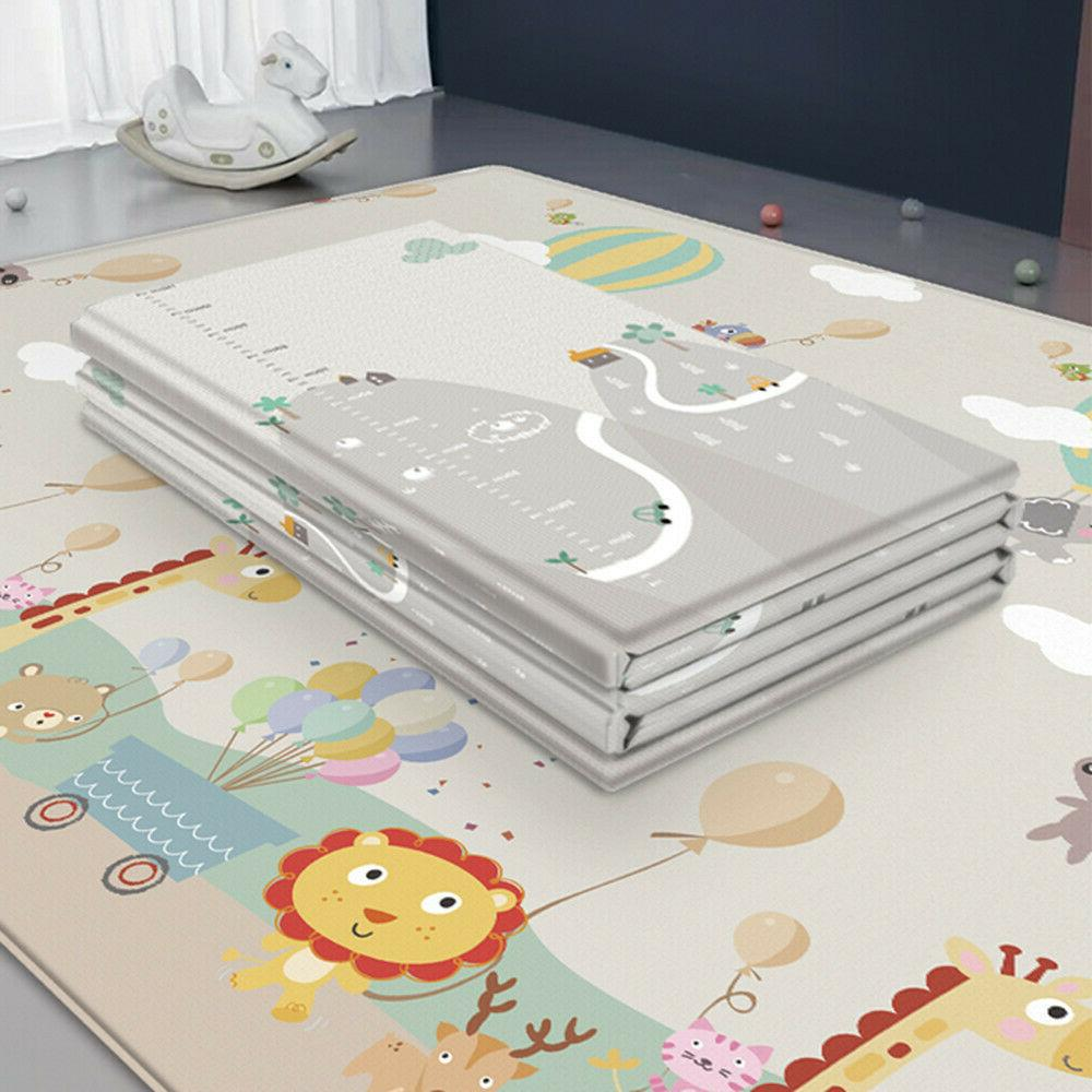 Portable Baby Folding Large Thickened Foam Crawling Soft Mat