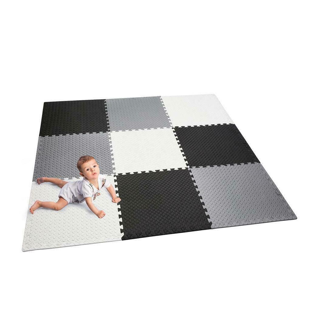 Portable Kids Play Mat Foam Floor Gym Patchwork for Outdoor