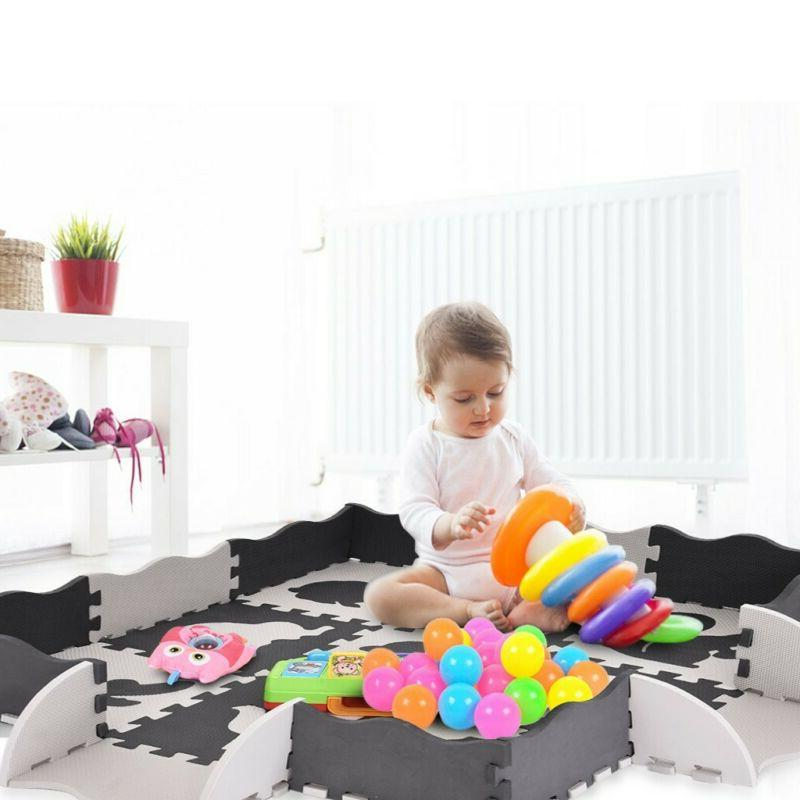 Baby Large Play Mat Set Kid Non-Toxic Extra Thick Foam w/Gat