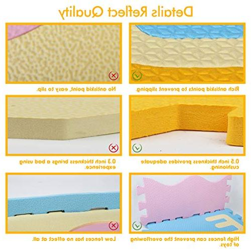 AIMERDAY Baby Extra Large Kids Playmat Floor Tiles 28 Patterns Crawling for Playroom Infants