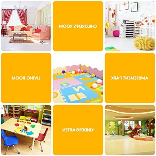 AIMERDAY Baby Puzzle Extra Large Kids Interlocking Foam Floor with 28 Patterns for Nursery Infants