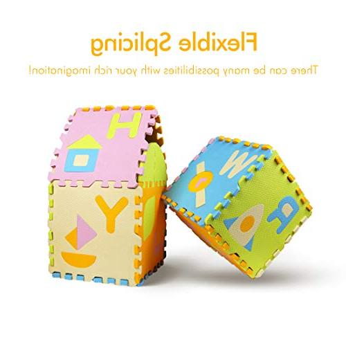 AIMERDAY Baby Mat Extra Thick Floor with 28 Patterns Alphabet Crawling for Playroom Nursery Toddlers Infants