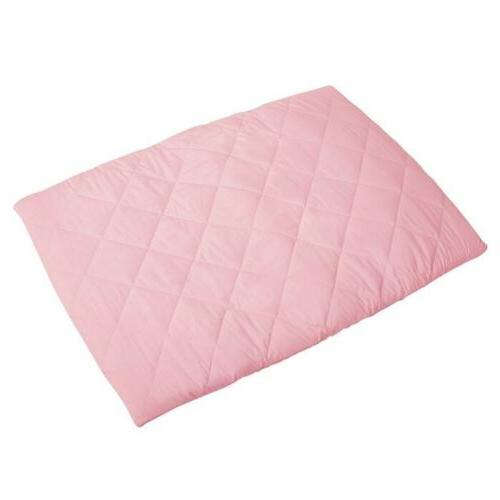 quilted pack n play playard sheet pink
