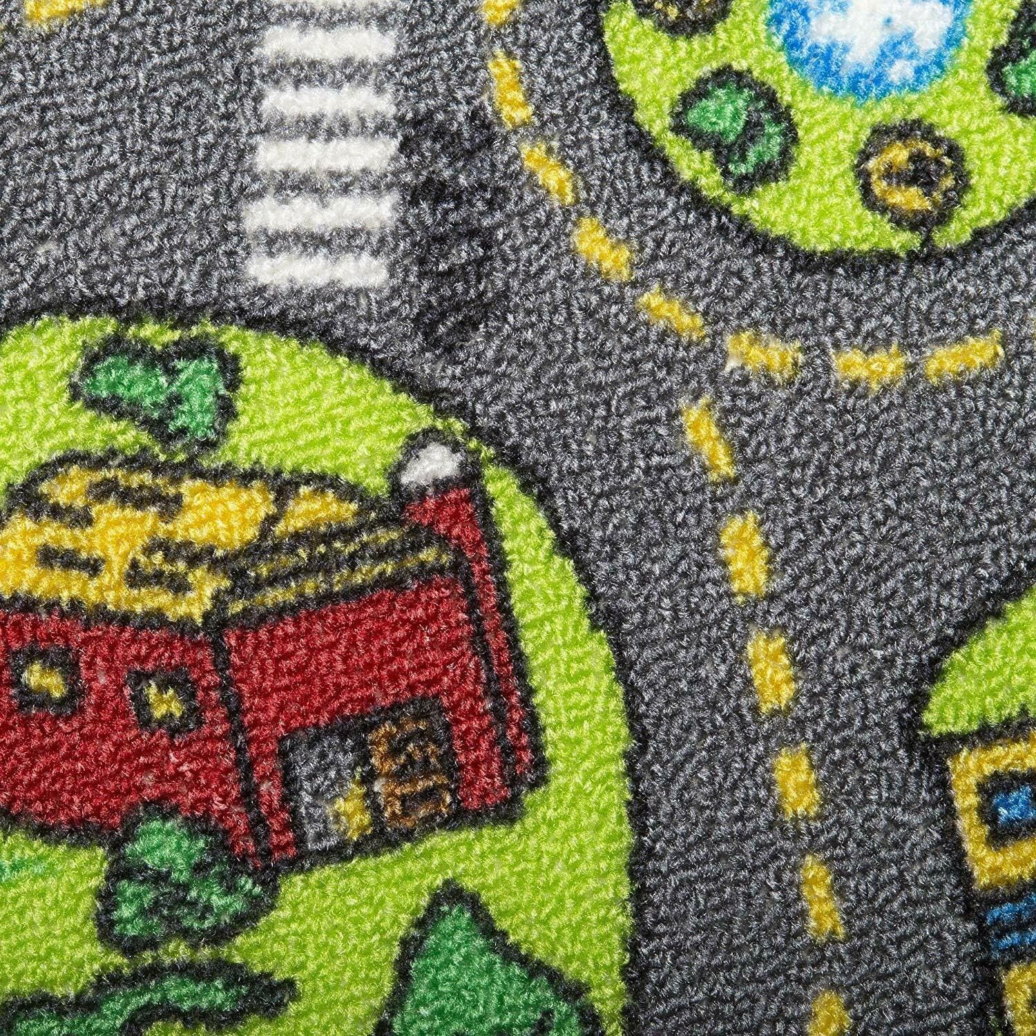 Race Car Rug Play For Toddlers Carpet Road Track Floor