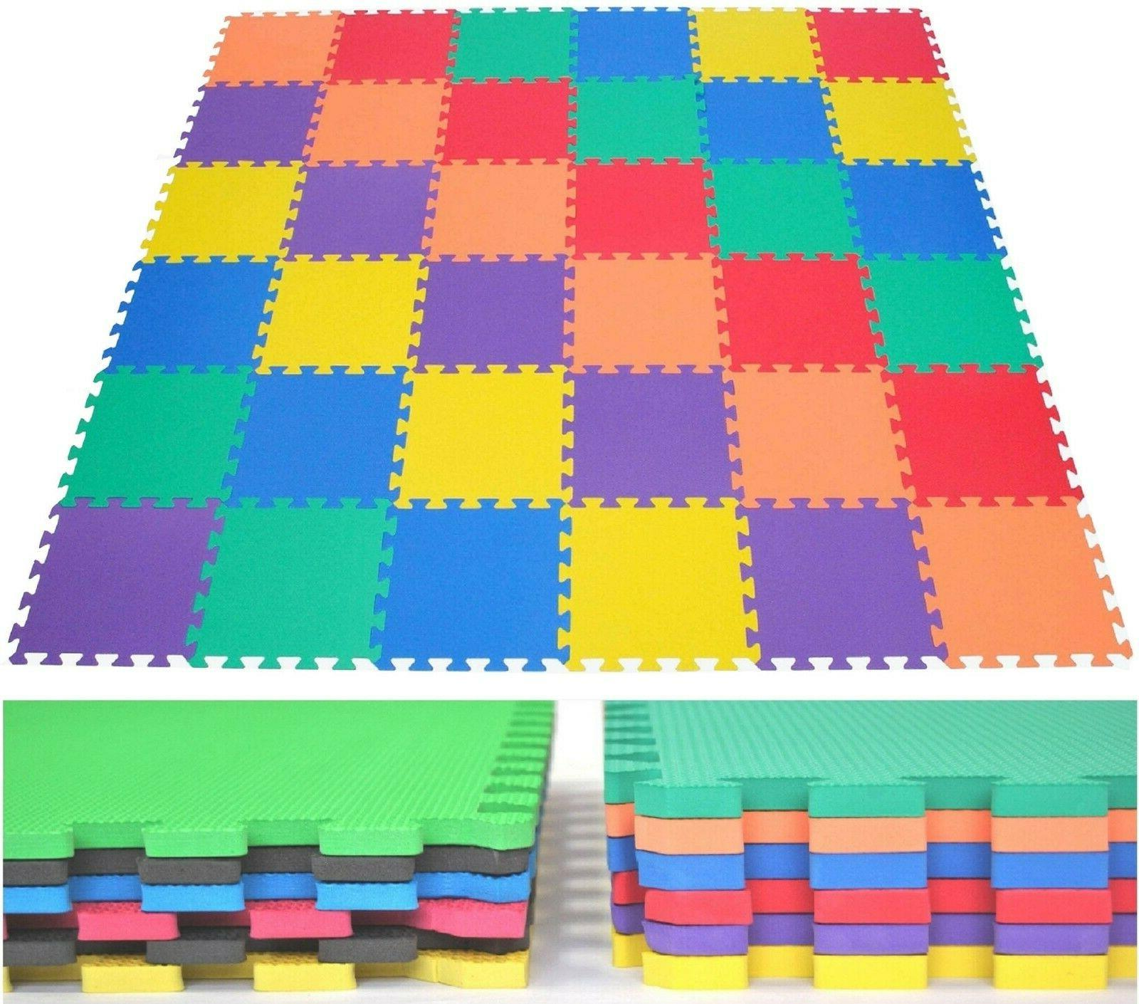 36 Piece Foam Play Mat Non Toxic Extra Thick Interlocking Fl