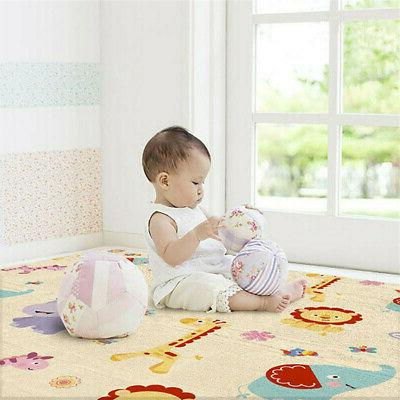Reversible Kids Play Crawling Double-sided