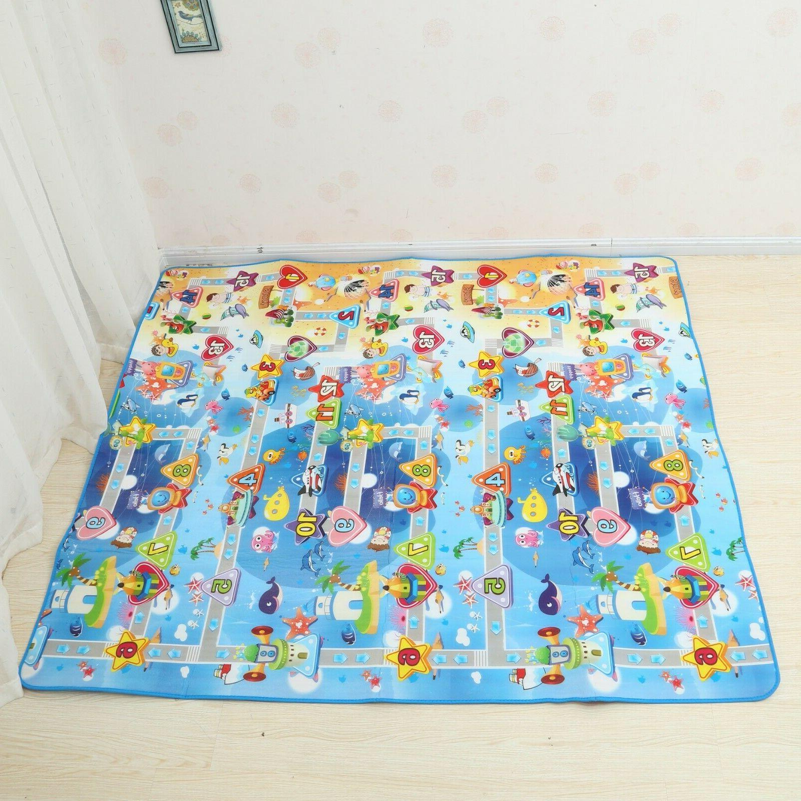 Reversible Kids Activity Mat Baby 2Side