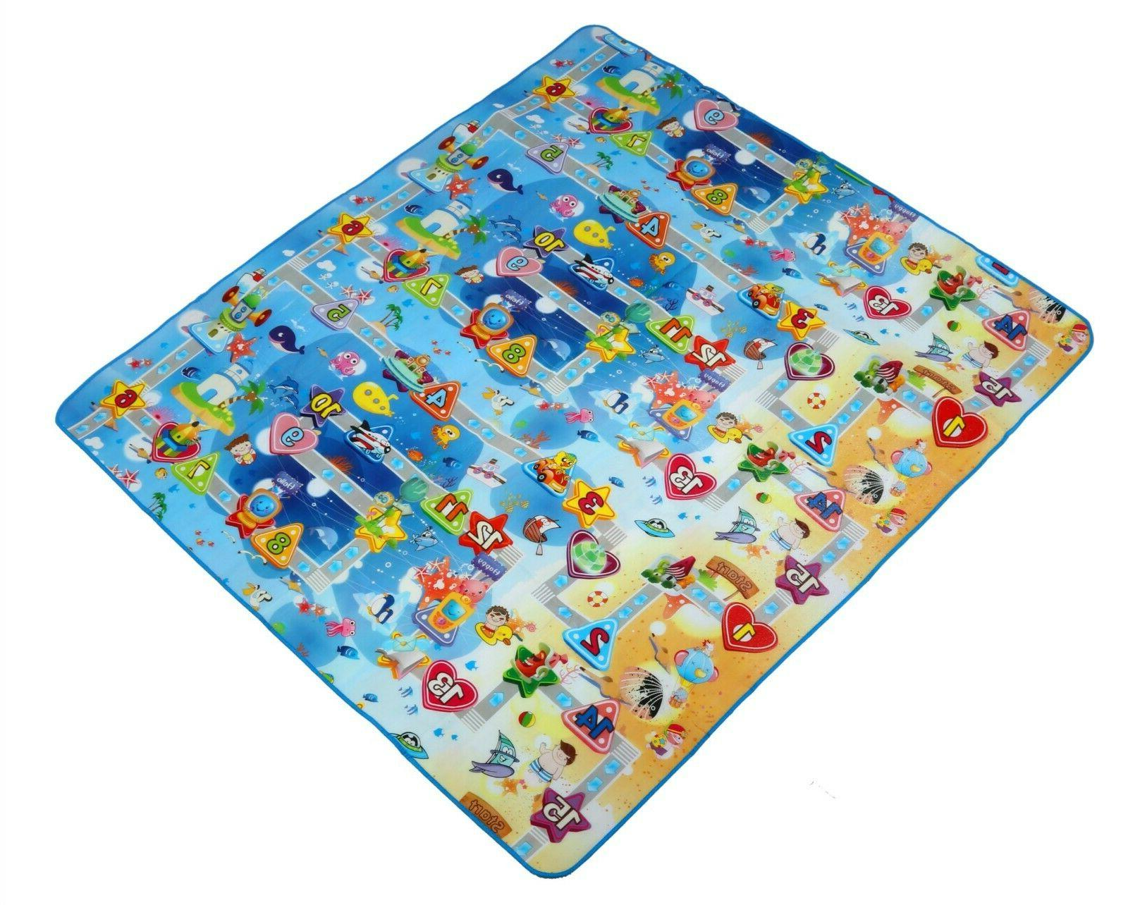 Reversible Activity Baby and Play Mat Game