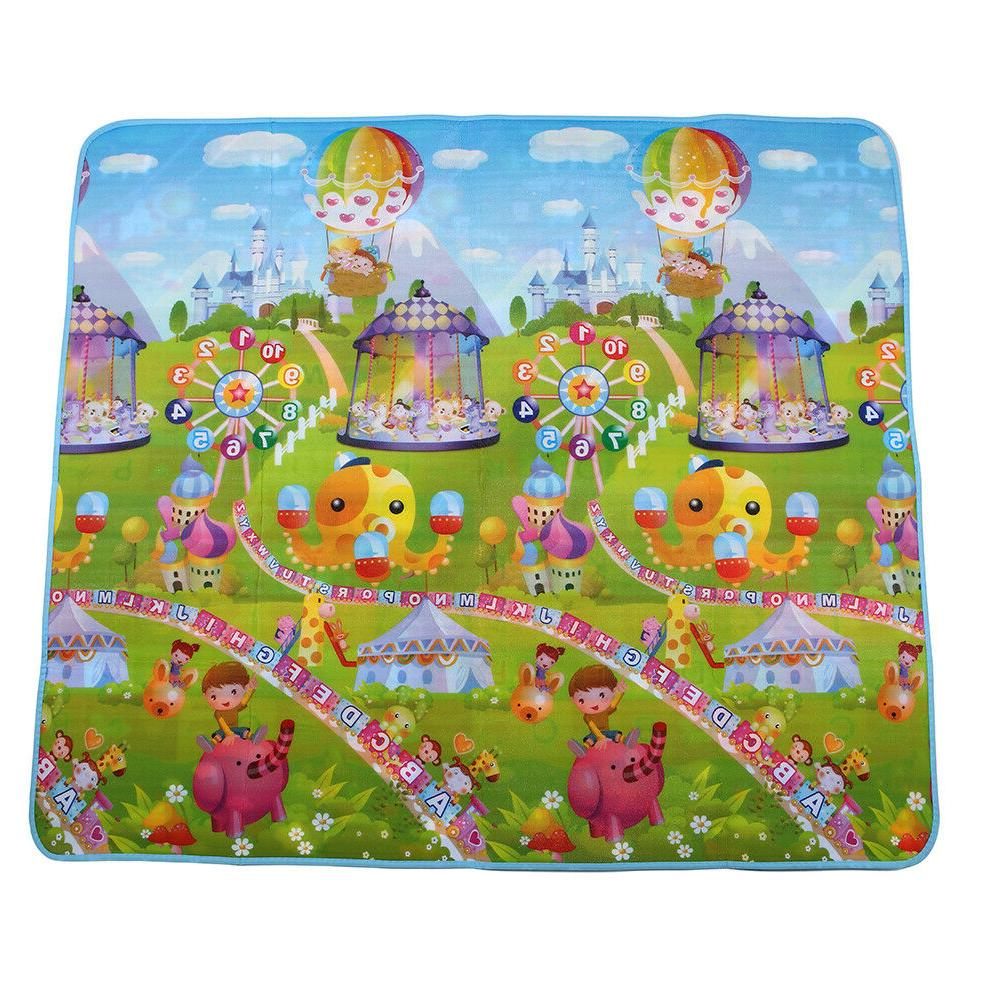Reversible Baby Children Play Foam Rug 2Side