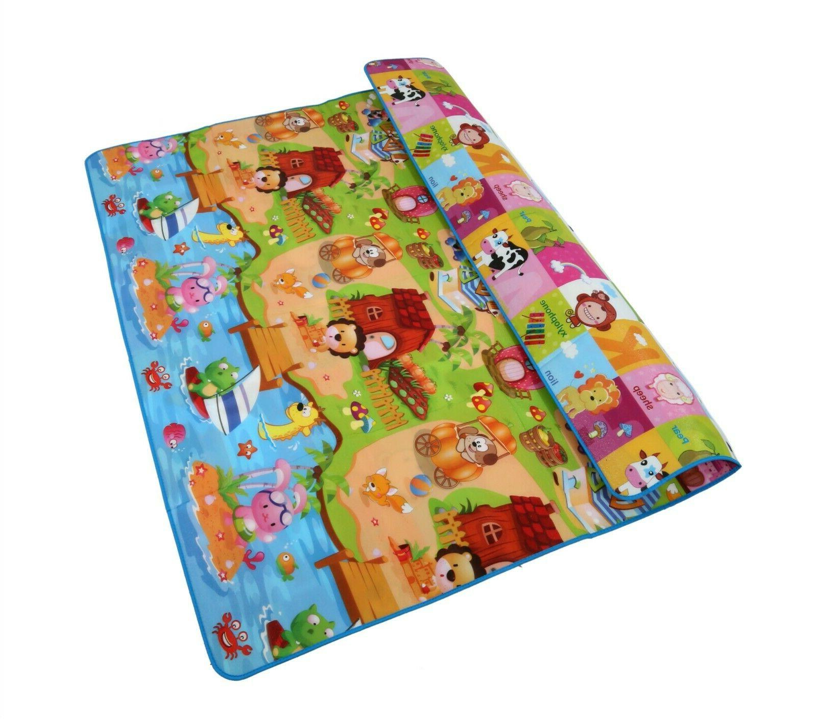 reversible kids activity mat baby care play
