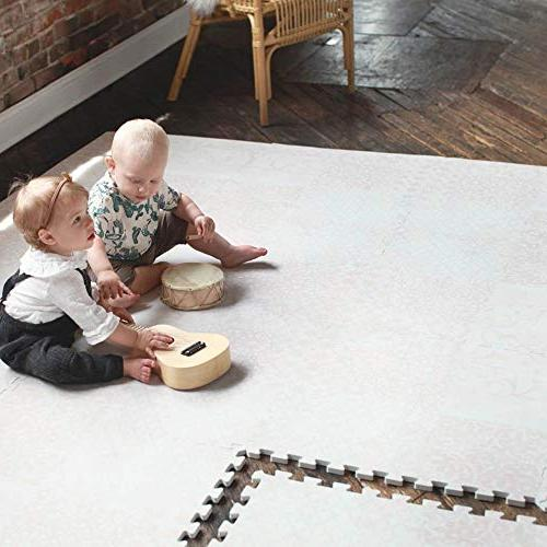Little Nomad Baby Authentic Soft Interlocking Floor Tiles Resembles an Area | Seen On Soft