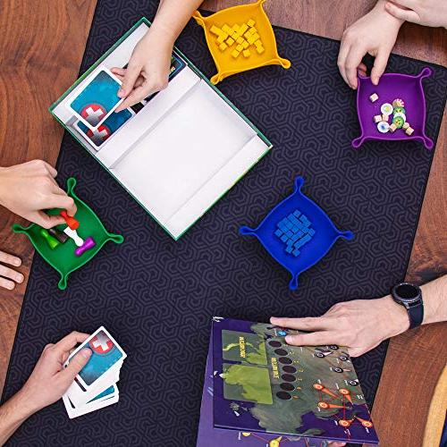 Roll-Play Game 2' Neoprene Level-up Dice Games, RPG Gaming Double-Sided, Reversible, Portable and Pattern Sides