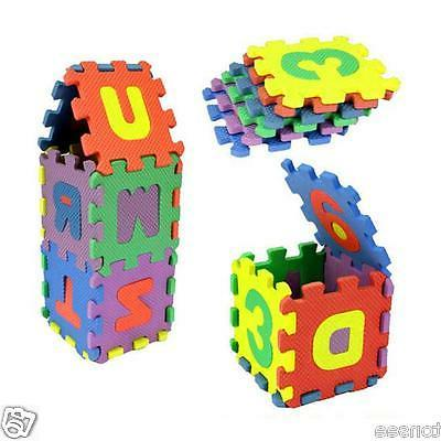 36PCs Baby Room Alphabet Number Playing Floor Mat Puzzle