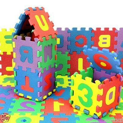 36PCs Baby Kids Room Alphabet Number Playing Floor Puzzle