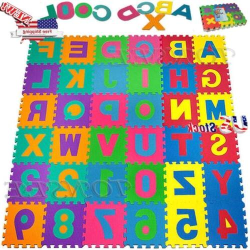 36PCs Baby Kids Room Alphabet Number Foam Crawl Playing Floo
