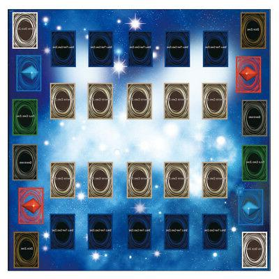 rubber play mat 60x60cm galaxy style competition