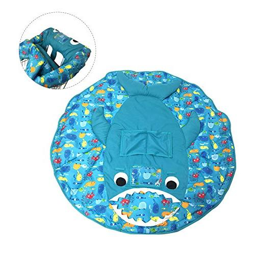 PER Shark Shopping Cart Cover/High Mat Protective Safety Universal Fit Foldable For Baby