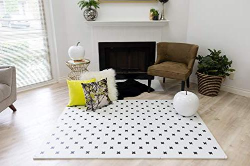 "Stylish Play Mat Thick Comfortable 24"" 24"" Tiles edges babies. Non-Toxic, No Spill Resistant, Yay Mats Puzzle 4 Tummy"