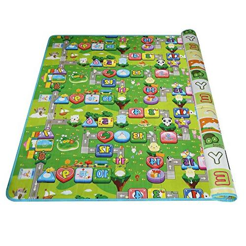 thick double sided toddler play