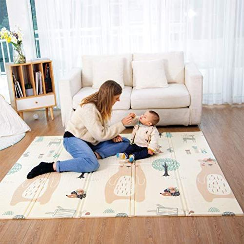 mat, Crawling Skidproof Cushioned for Infants, Non-Toxic Crawling Yoga